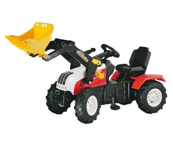 Foto    Tractor a pedales steyr cvt 170 con pala y neumáticos de goma