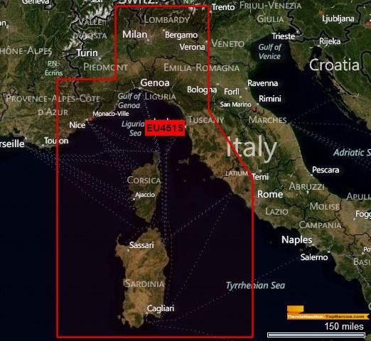 Foto  Cartografía Garmin Bluechart G2: bluechart g2 ligurian sea-corsi