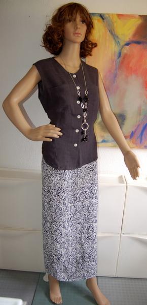 Foto 2-piece vestido con una falda envolvente