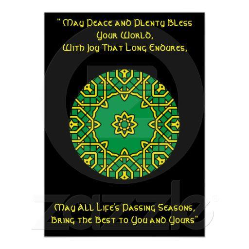 Foto A42 Mandala caleidoscópica céltica Blessing.6 irla Poster