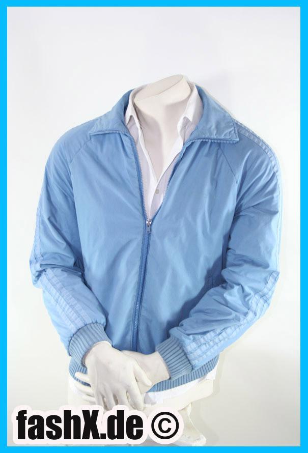 Foto Adidas Vintage Jacke Hell Blau 80iger Jahre Größe M