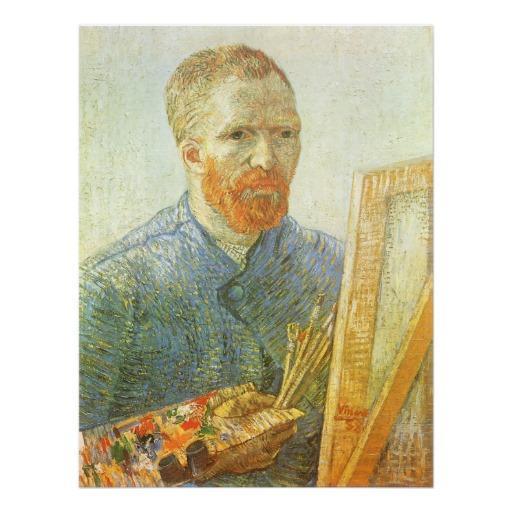 Foto Autorretrato delante del caballete; Vincent van Go Impresiones