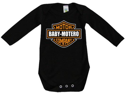 Foto Body bebé negro manga larga baby motero