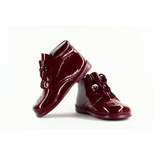 bd6c55cf Foto Zapato de niño clásico inglesito charol serraje verde bosque ...