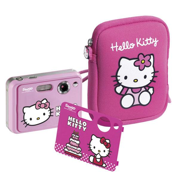 Foto Cámara digital + funda Hello Kitty Ingo