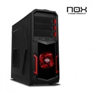 Foto caja semitorre nox nx-3 negra led rojo (sin fuente
