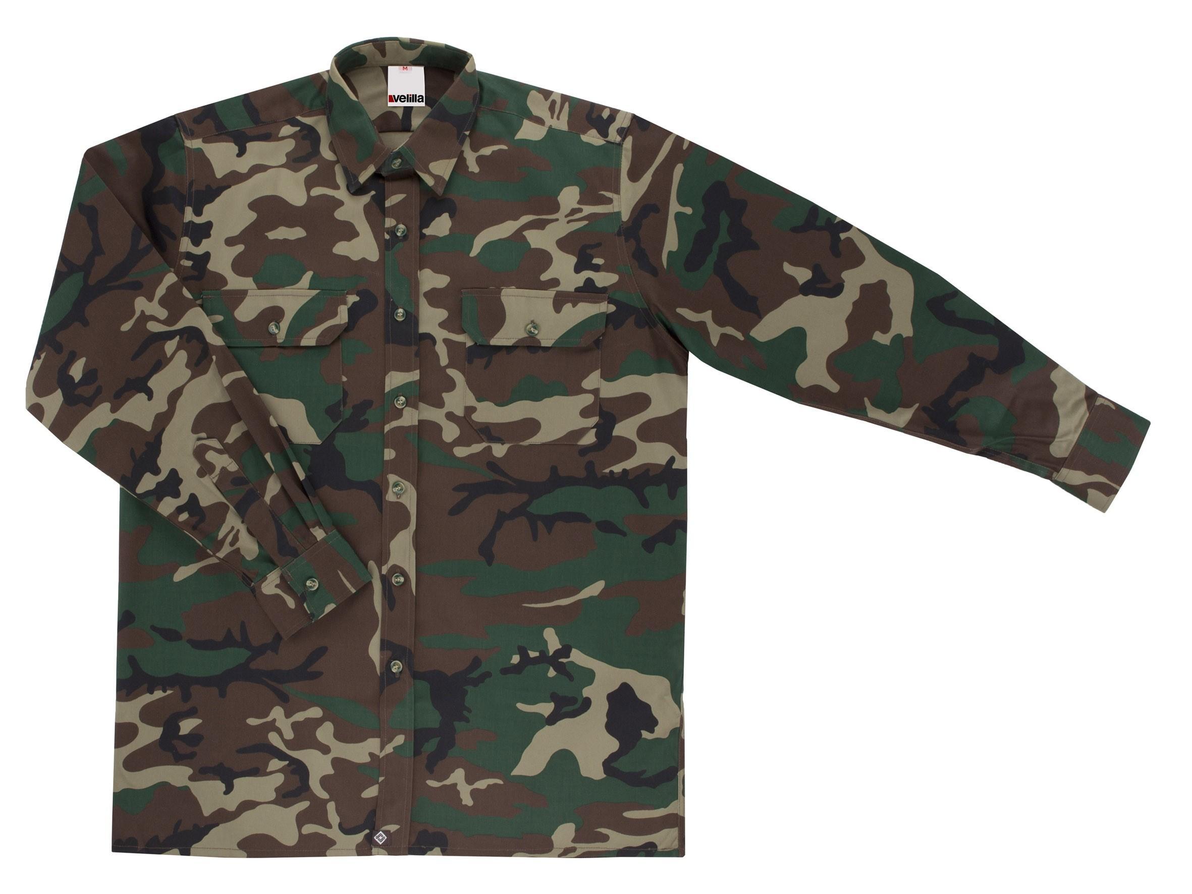 Foto Camisa 535 de manga larga. Camuflaje. Velilla