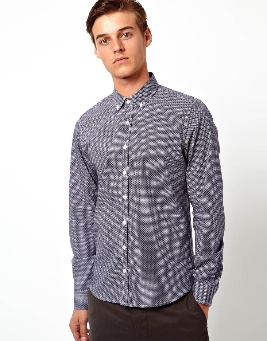 Foto Camisa estampada de Vito Azul marino