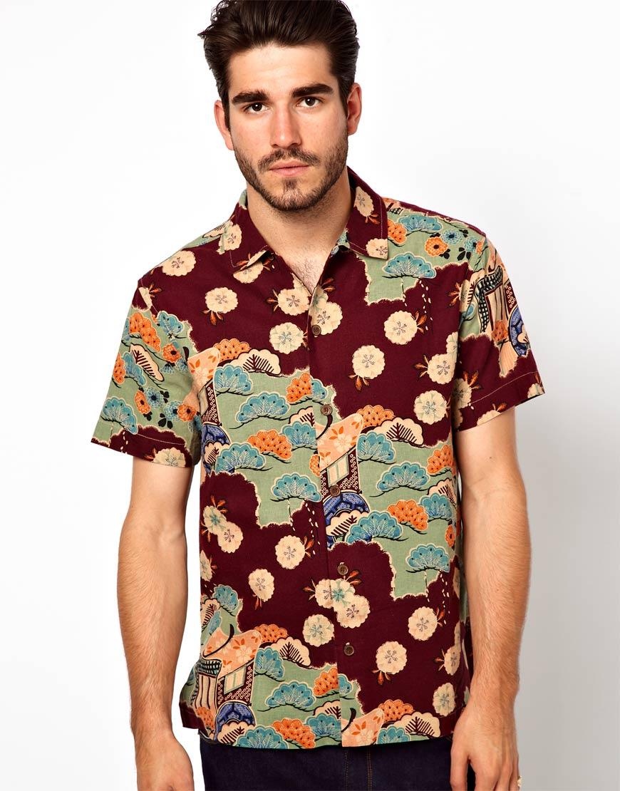 Foto Camisa hawaiana de YMC Rojo