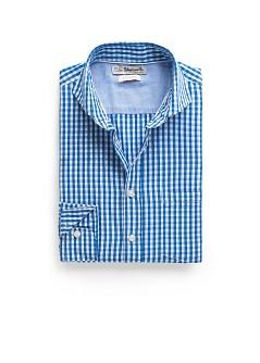 Foto Camisa Slim-Fit Cuadro Vichy azul royal H.E. by MANGO