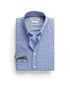 Foto Camisa Slim-Fit Micro Cuadro Vichy azul royal H.E. by MANGO