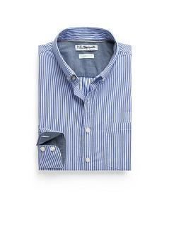 Foto Camisa Straight-Fit Rayas Kodak azul royal H.E. by MANGO