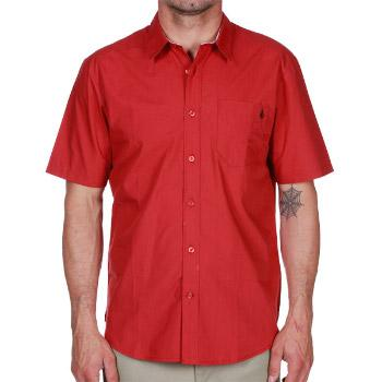 Foto Camisas Volcom Ex Factor Solid SS - lumber jack red