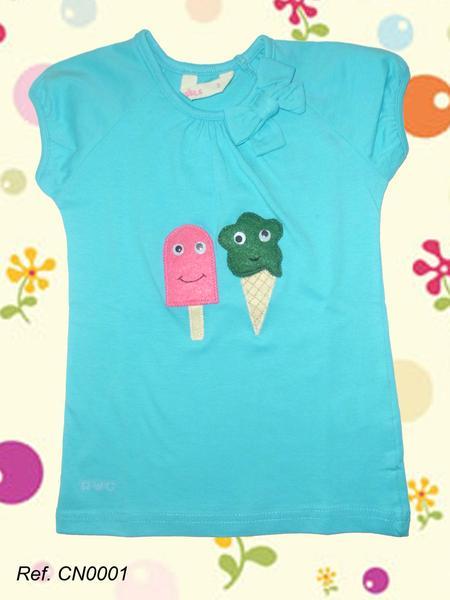 Foto Camiseta azul infantil Xispi Helados