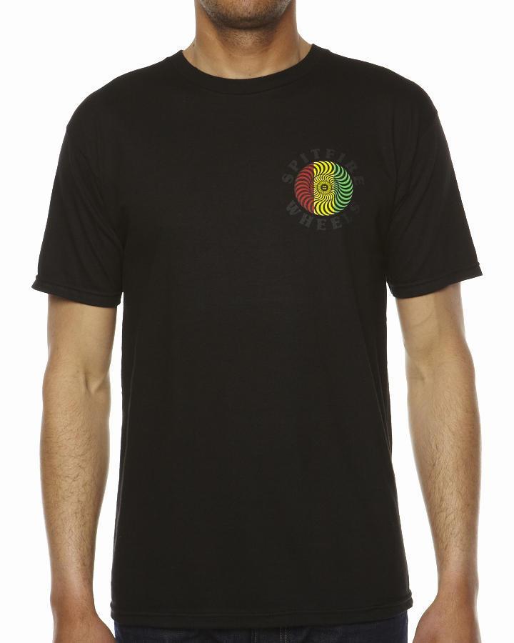 Foto Camiseta Clásica De Spitfire - Negro Rasta
