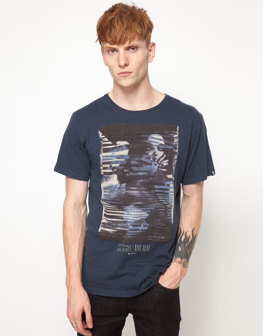 Foto Camiseta con estampado a trozos de chica de Insight Azul marino