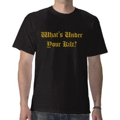 Foto Camiseta de la falda escocesa