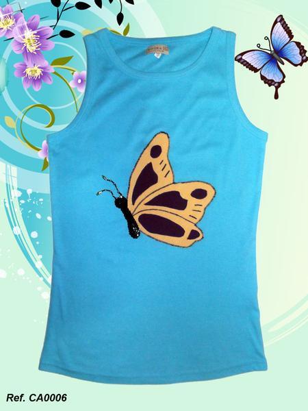 Foto Camiseta mujer de tirantes Xispi mariposa