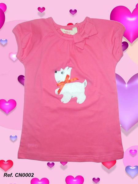 Foto Camiseta rosa infantil Xispi Perrito