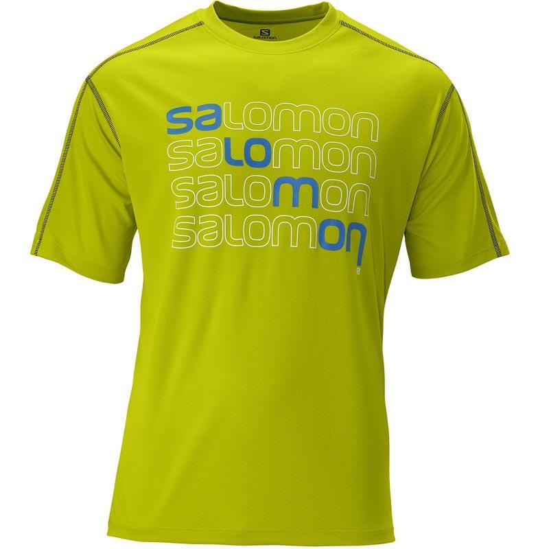Foto Camiseta Salomon Stroll Logo Tee Organic Green M
