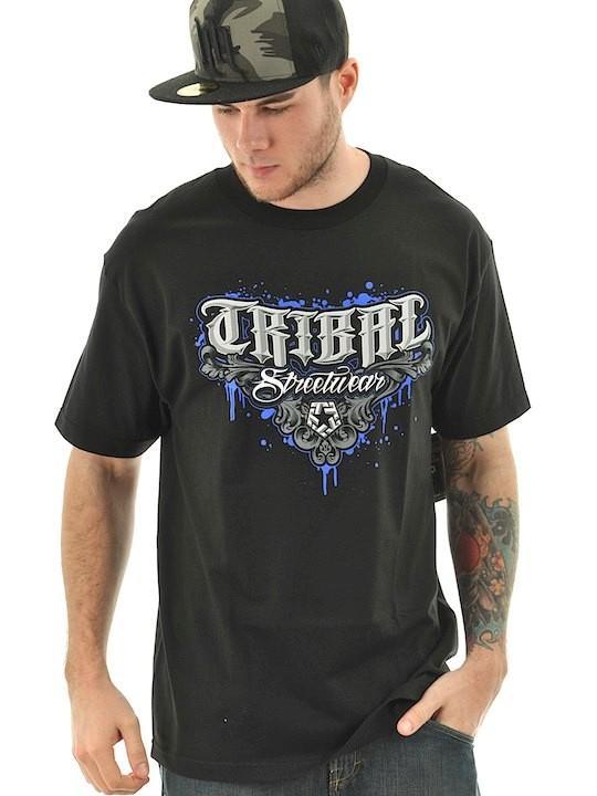 Foto Camiseta Tribal Streetwear M5 Drips Negro