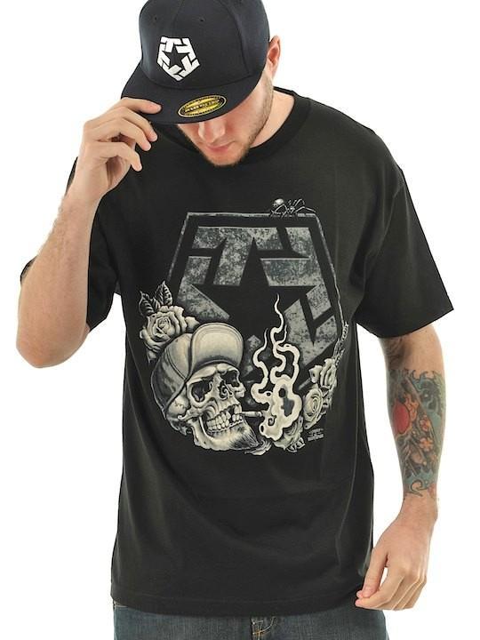 Foto Camiseta Tribal Streetwear Smoke Negro