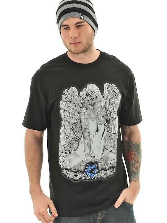 Foto Camiseta Tribal Streetwear Wings Negro