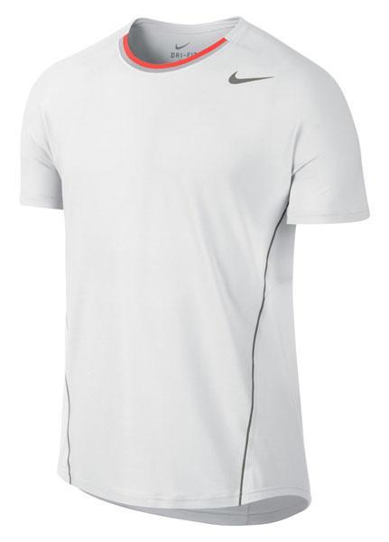 Foto Camisetas Nike Rafa Nadal Wimbledon Peaks Crew White/metpew