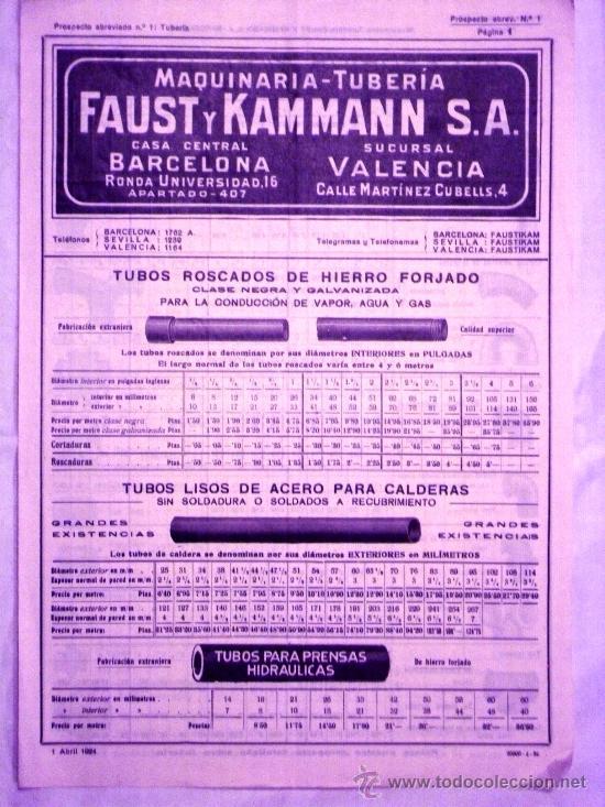 Foto catalogo maquinaria tubería faust y kamman años 20 todo tipo