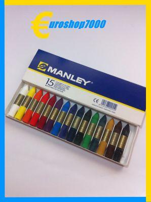Foto Cera Manley Pintura De 15 Colores Apto Uso Escolar