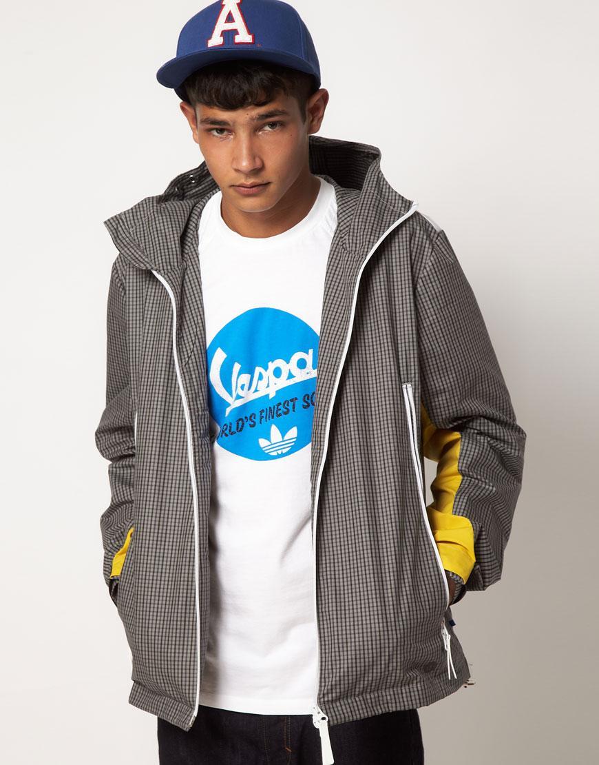 Foto Chaqueta cortavientos de Adidas Originals Gris