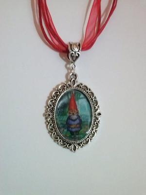 Foto Collar Gnomo Gnome David El Gnomo Camafeo Cameo Charm Kawaii Necklace