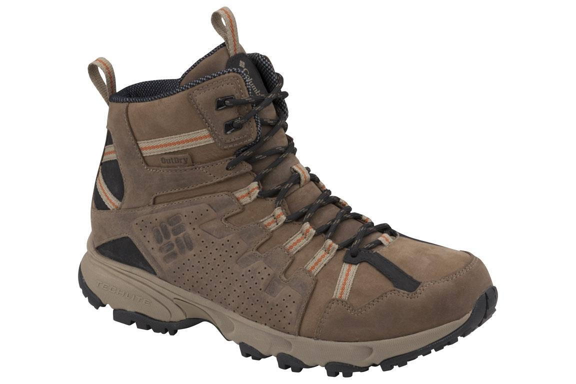 Foto Columbia Talus Ridge Zapatillas de trekking Hombre marrón/negro, 4...