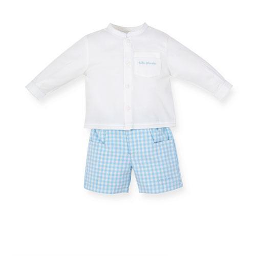 Foto Conjunto niño camisa blanca pantalon corto