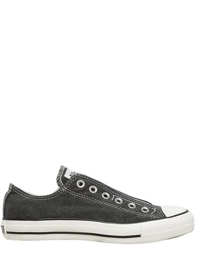Foto converse tenis de algodón de lona all star ox slip on
