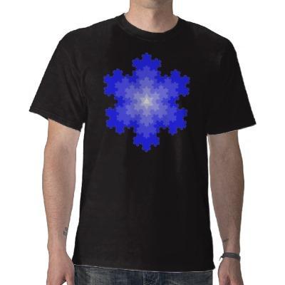 Foto Copo de nieve de Koch en camisa azul de la extensi