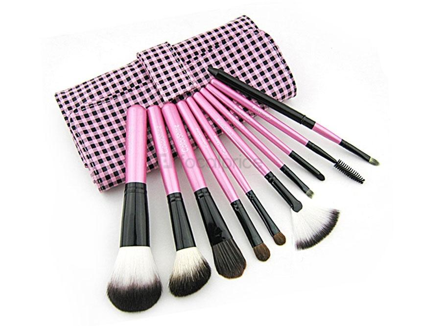 Foto CSM3005 Makeup Cosmetic Brush Set & Case 10Pieces (rosa)