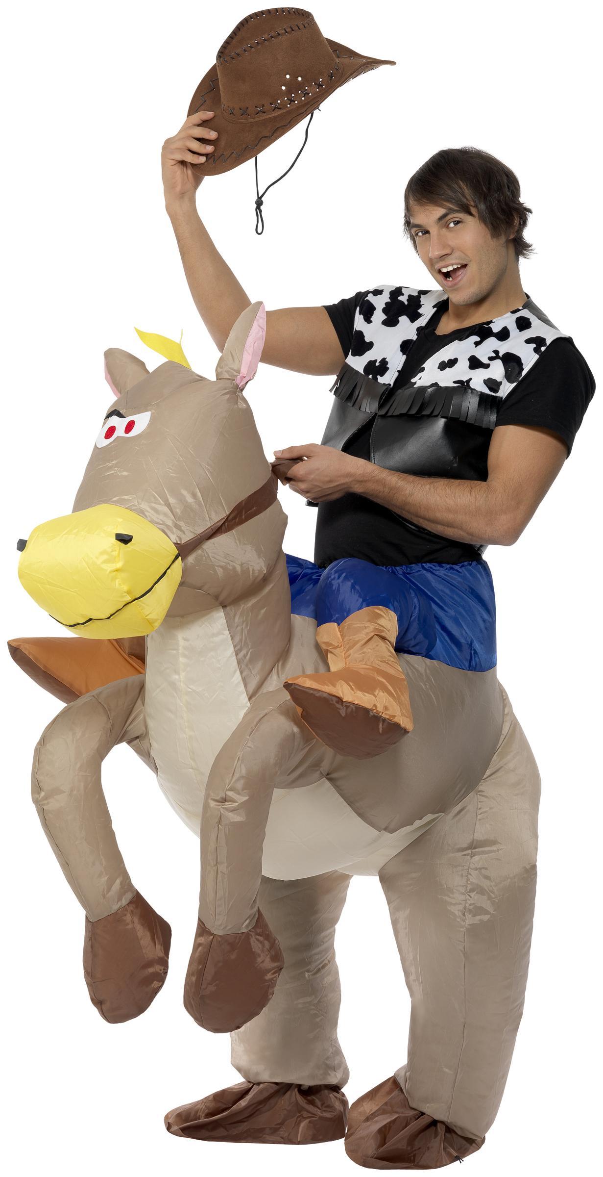 Foto Disfraz de caballo inflable para adulto