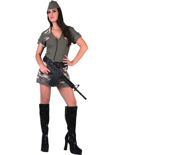 Foto Disfraz de Chica Militar