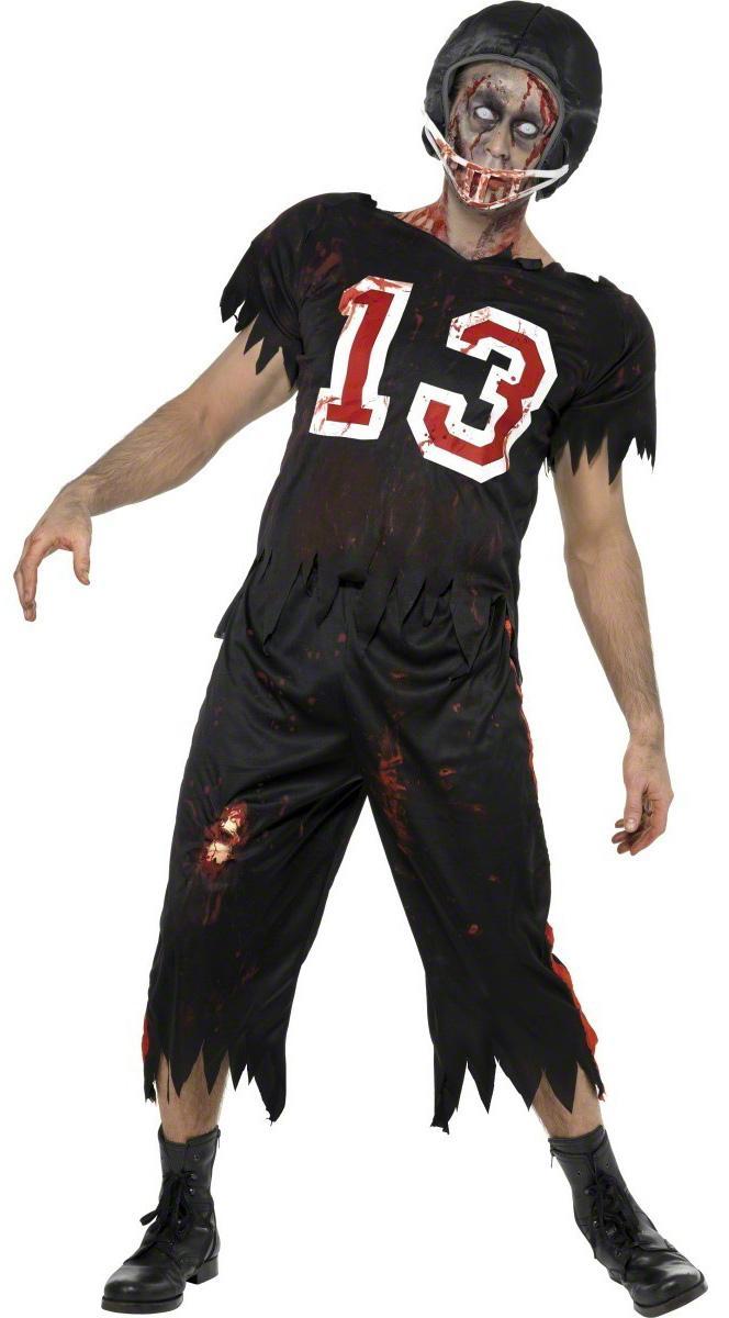 Foto Disfraz de jugador de fútbol americano zombie para hombre, ideal para Halloween