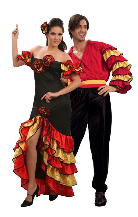 Foto Disfraz de pareja de bailaores flamencos