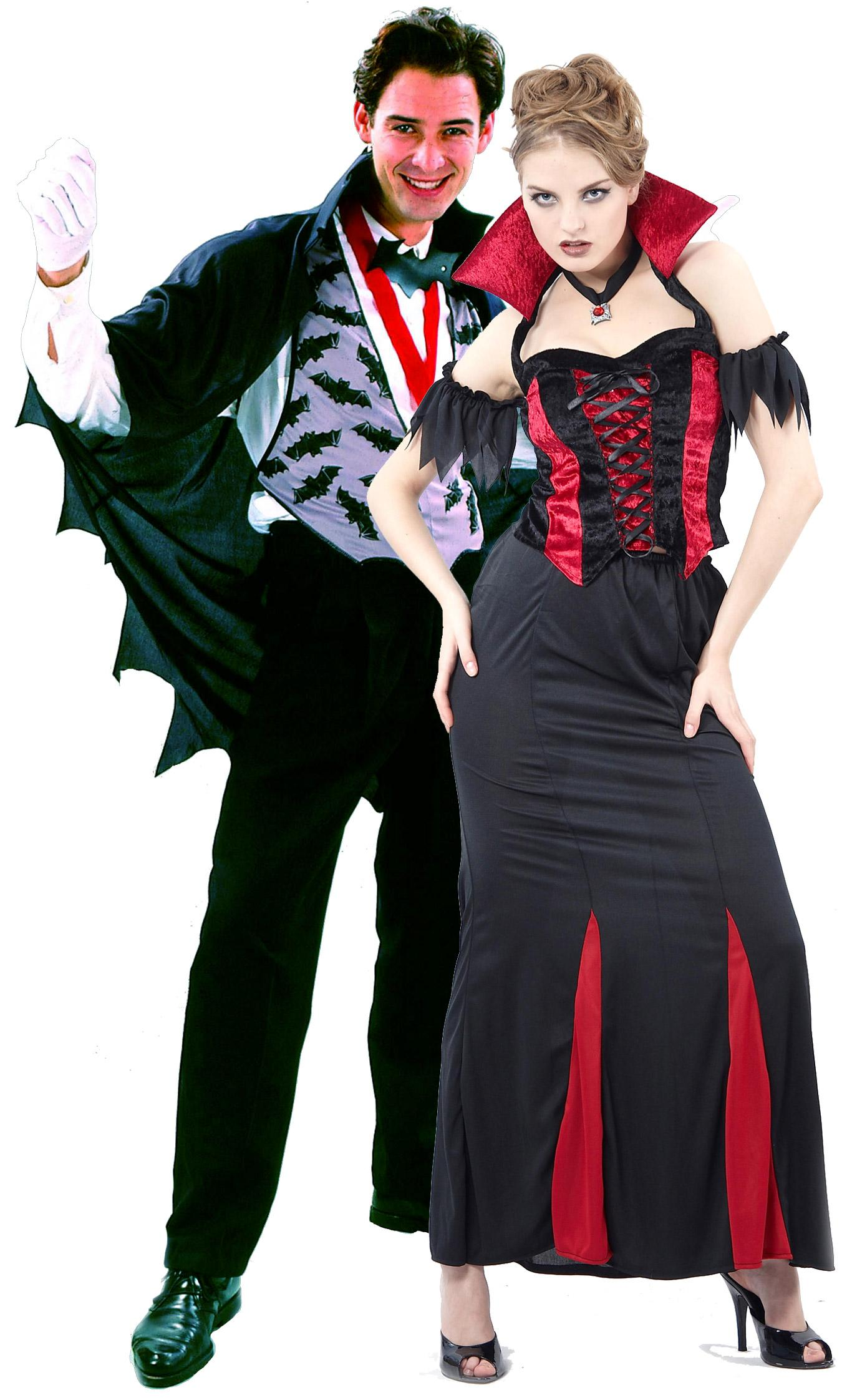 Foto Disfraz de pareja de vampiros ideal para Halloween