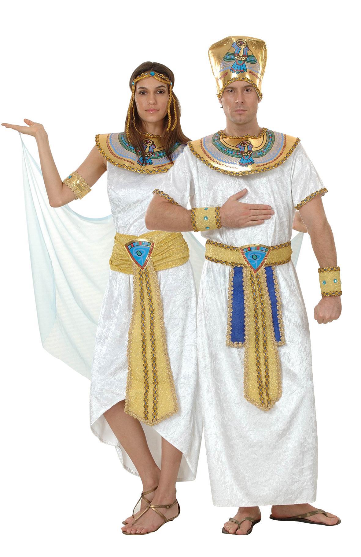 Foto Disfraz de pareja real egipcia