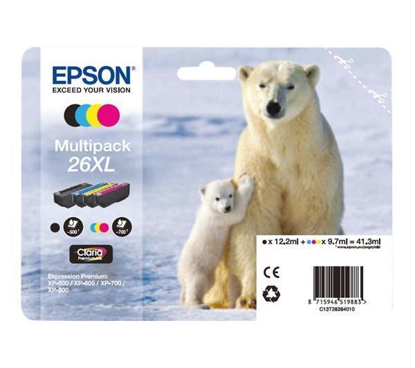 Foto Epson cartucho de impresión oso polar xl multipack negro, amarillo, ci