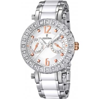 Foto Festina Ladies Multi-Function Ceramic Inlay Steel Watch Model Numb ...