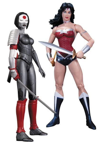 Foto Figura Dc Comics Pack 52 Wonder W vs Katana 18 cm