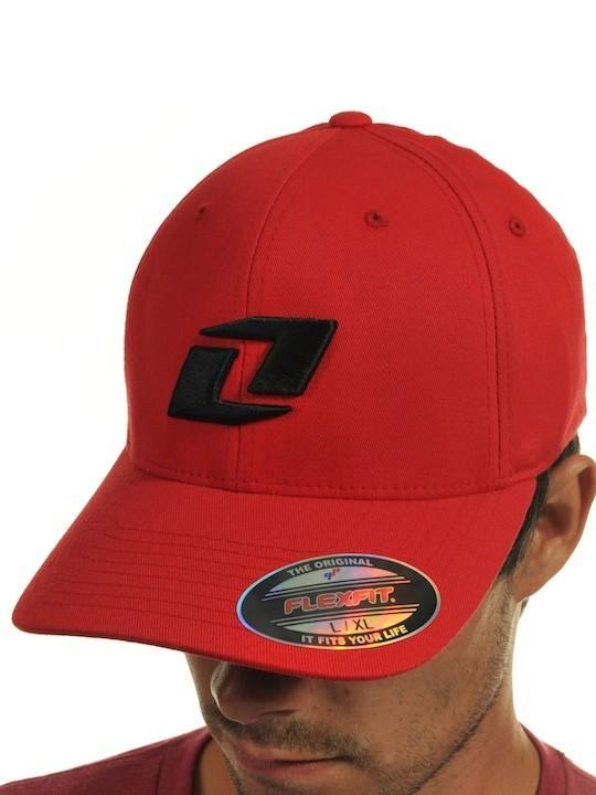 Foto Gorra Flexfit Visera Plana One Industries Icon Cb Rojo Negro