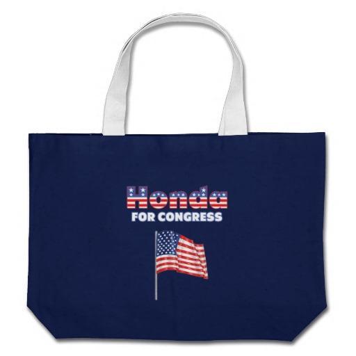 Foto Honda para la bandera americana patriótica del con Bolsa Lienzo