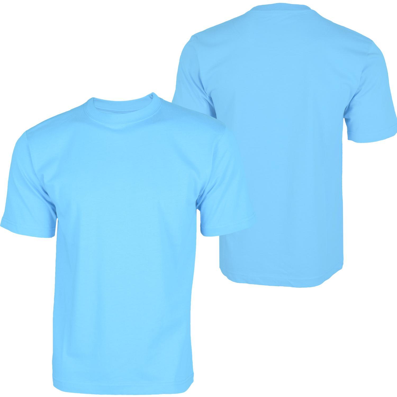 Foto Hoodboyz Basic Blank Camisetas Altas Azul Claro