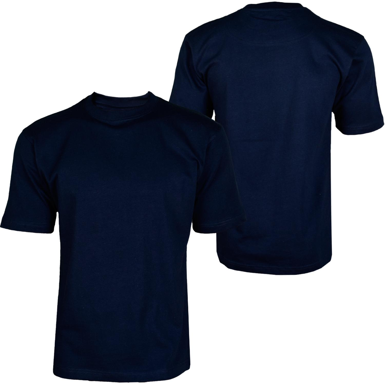 Foto Hoodboyz Basic Blank Camisetas Altas De Color Azul Oscuro